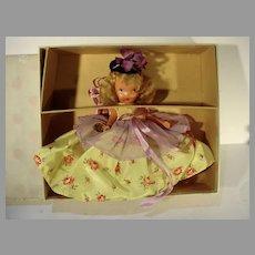 MIB Bisque Nancy Ann Storybook Doll, #153 Little Bo Peep, 1940's
