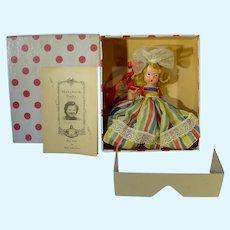 MIB Nancy Ann Storybook Doll, #22,, Alice Sweet Alice, 1940's, Bisque