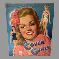 Rare America's Prettiest Magazine Cover Girls Paper Dolls, Un-Cut, 1944