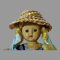 """Vintage Cosmopolitan 7 1/2"""" Ginger Doll, 1956"""