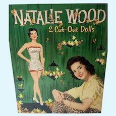 1958 Whitman Un-Cut Natalie Wood Paper Dolls!