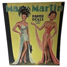 Vintage 1944 Saalfield Mary Martin Paper Dolls, Un-Cut!!