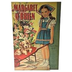 Vintage Margaret O'Brien Un-Cut Paper Dolls, 1944, Whitman