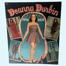 Original 1940 Deanna Durbin Paper Dolls, Merrill, Un-Cut!!