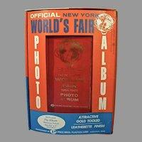1964-1965 New York World's Fair Souvenir, Photo Album...Never Used