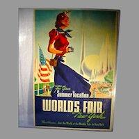 "ORIGINAL 1939 New York World's Fair ""Summer Vacation"" Poster"