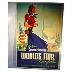 "ORIGINAL 1939 New York World's Fair ""Summer Vacation"" Poster"