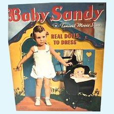Rare Baby Sandy Un-Cut Paper Dolls, 1941 Merrill