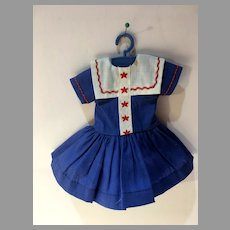 Vintage Ideal Shirley Temple Dress for 12 Inch Doll, 1950's