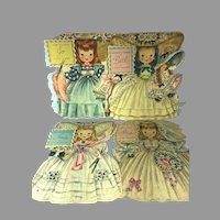Set of Vintage Hallmark Little Women Cards, 1949, June Allyson, Elizabeth Taylor etc...