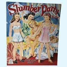 VIntage Merrill 1943 Slumber Party Paper Dolls