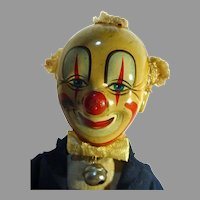 Rare 1950's, Alps, 1950's Smiling Sam Carnival Clown, Works Perfectly