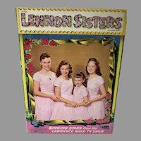 Whitman Lennon Sisters Un-Cut, Mint, Paper Dolls, 1957