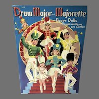 Rare 1941 Drum Major and Majorette Paper Dolls, Un-Cut, Merrill Publishing Co.