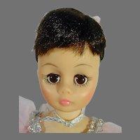 Charming 12 Inch Madame Alexander Ballerina Doll, 1970's