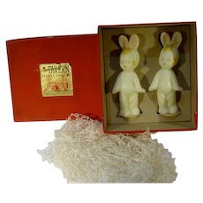 Tavern Easter Candles w/ Original Box, 1940's, Little Boy in Bunny Suit