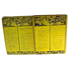 Original Copies of Volumes X and IX of the Yellow Book from 1896