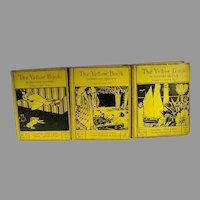 Original Volumes V,VI and VII of The Yellow Book, dating 1895