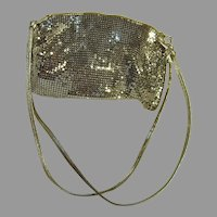 Whiting and Davis Silver Mesh Evening Purse, Disco Era