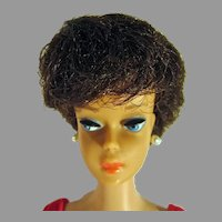 Vintage Mattel Brunette Barbie Bubble Cut w/ \Pink Lips, 1963