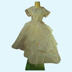 Light Blue Taffeta Doll Evening Gown, 1950's