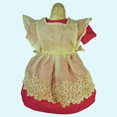 Vintage 1950's Doll Dress and Pinafore,Charming