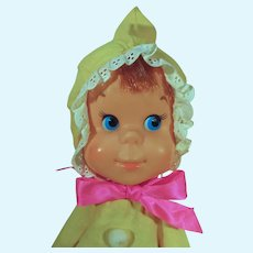 Vintage 15 Inch Mattel Baby Beans Yellow Doll, 1973