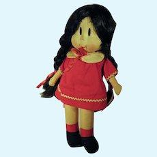 VIntage Little LuLu Cloth Doll, 1940's As Is, Georgene