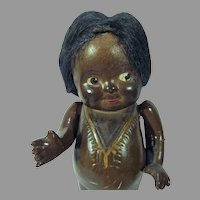 Rare Effanbee 7 Inch Composition Baby Bud Doll, 1919-20