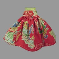 Charming 1950's Square Dance Doll Circle Skirt!
