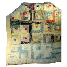 Charming Vintage Baby Patchwork Quilt, 1930's