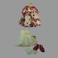 Vintage Handmade Shirley Temple Dress with Accessories, 1960's for Compo Doll