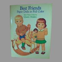 Mint Un-Cut Best Friends New Queen Holden Paper Dolls, 1985