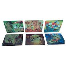 Set of Six Un-Used Disneyland Post Cards, 1979