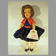"Charming Ideal 12"" Shirley Temple Doll in Bolero Dress, 1958"