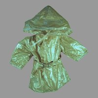 """Vintage Totsy Toys Hooded Raincoat for 16"""" Doll, 1960's"""