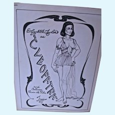 Elizabeth Taylor as Cleopatra Paper Dolls, Pat Frey, Artist Ltd. Ed. 1987