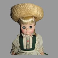 Vintage Madame Alexander 13 Inch Heidi Doll, 1980's