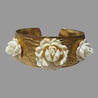 Vintage Flower Cuff Bracelet, 1950's