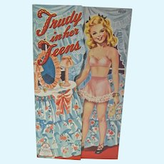 Vintage Trudy in her Teens Un-Cut Paper Dolls, Merrill, 1943