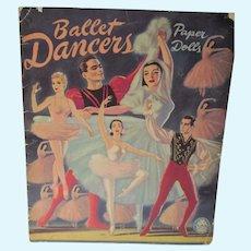 Vintage Un-Cut Ballet Dancers Paper Dolls, Merrill, 1947