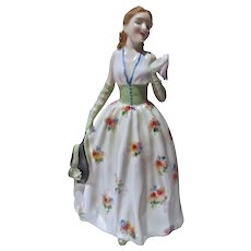 Vintage Royal Doulton China Figurine, Carolyn, 1952