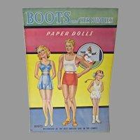 Boots and Her Buddies Un-Cut Paper Dolls Saalfield, 1943
