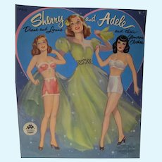 Sherry & Adele Diane & Lynne Un-Cut Merrill Paper Dolls, 1953