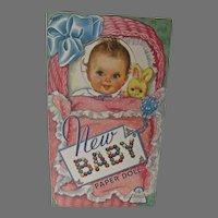 Vintage New Baby Paper Dolls, Un-Cut, Merrill, 1943
