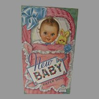 Vintage New Baby Paper Dolls, Un-Cut, Merrill, 1943