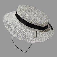 Vintage Summer Doll Hat, 1950's