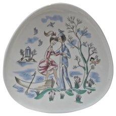 Vintage 1960's Rosenthal Studio Line Porcelain Peynet Hanging Plate