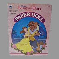 Vintage Disney Beauty and the Beast Paper Dolls, 1991- Un-cut