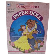 Vintage Disney Beauty and the Beast Paper Dolls, 1991- Un-cut